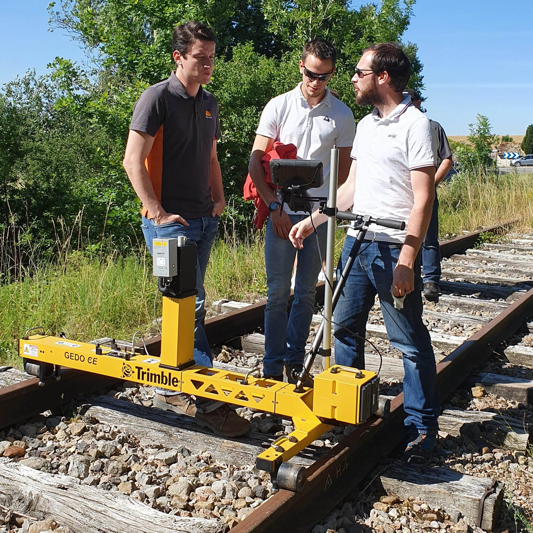 Démonstration client du charriot Trimble GEDO IMS